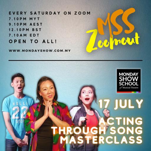 Zoomout Saturday - ACTING THROUGH SONG