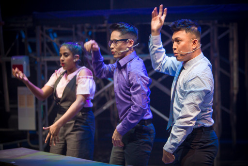 Zickry Yusoff performing in Working Dead the Musical