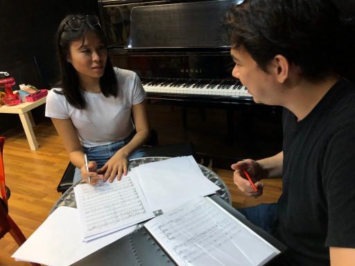 Dominic teaching music