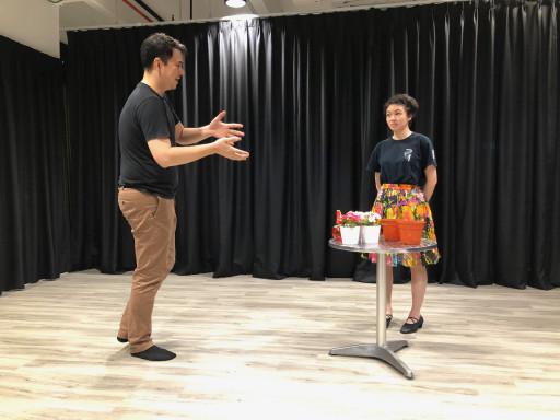 Dominic Lucien Luk teaching a musical theatre class