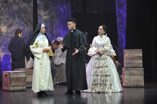 Dennis Lee performing in Euphrasia the Musical