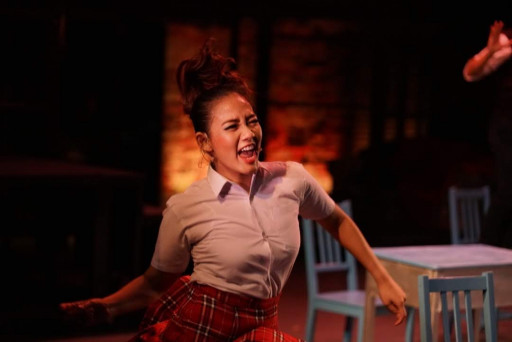 Nabilah Hamid performing in Rocking Broadway - Through The Annals of Rock Musicals